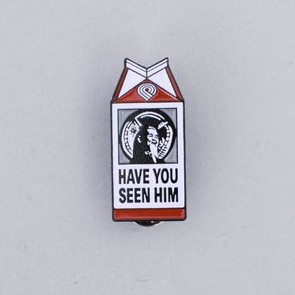 Powell Peralta Animal Chin Milk Lapel Pin Badge