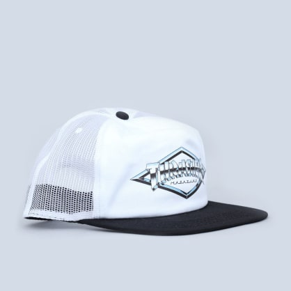 Thrasher Diamond Emblem Trucker Cap White
