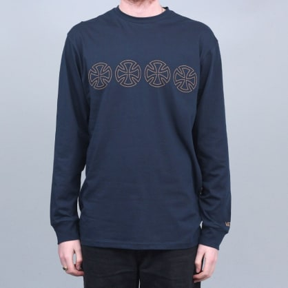 Vans X Independent Iron Cross Longsleeve T-Shirt Navy