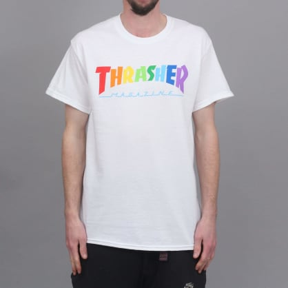 Thrasher Rainbow Mag T-Shirt White