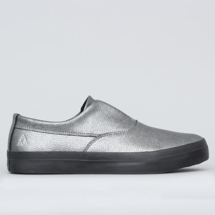 HUF Dylan Slip On Shoes Silver Metal
