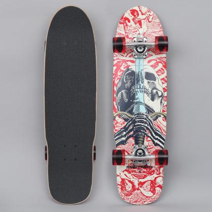 Powell Peralta 8 Mini Skull & Sword 186 Complete Skateboard White