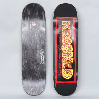 Krooked 8.5 Spiked Skateboard Deck Black