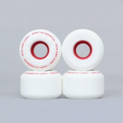 Ricta 53mm 86A Clouds Skateboard Wheels White / Red