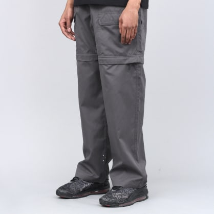 Pop Trading Zip Off Pants Charcoal