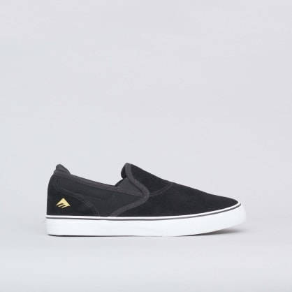 Emerica Wino G6 Slip-On Youth Shoes Black / White / Gold