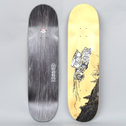 Krooked 8.5 Manderson Fifty Yards Skateboard Deck Yellow