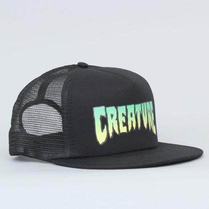 Creature Logo Mesh Cap Black