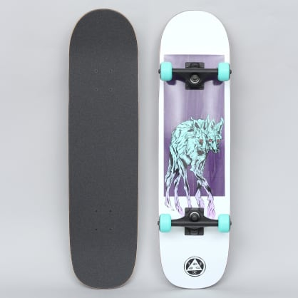 Welcome 8 Maned Wolf On Bunyip Complete Skateboard White / Purple / Teal