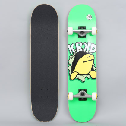 Krooked 7.5 Shmooday Small Complete Skateboard Green