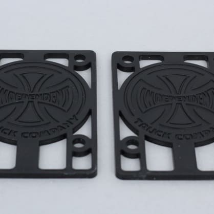 Independent 1/8 inch Risers (pack of 2) Black