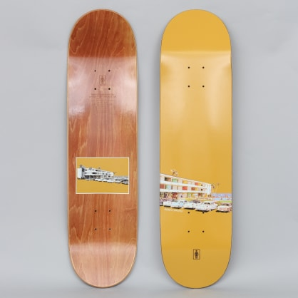 Girl 8.125 Andrew Brophy No Vacancy Skateboard Deck Mustard