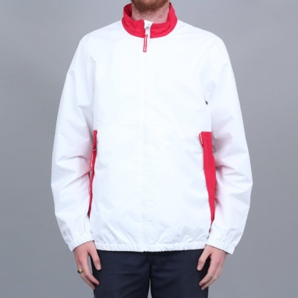 DC Skate Track Top Jacket White / Red