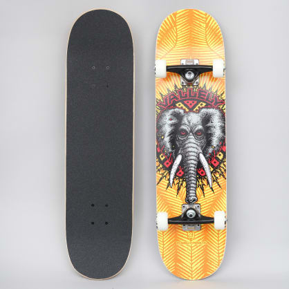 Powell Peralta 8 Vallely Elephant 242 Birch Complete Skateboard Yellow