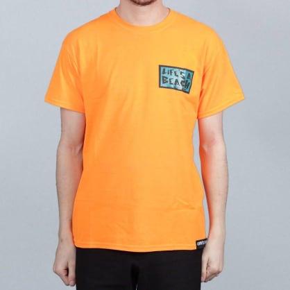 Life's A Beach Get With The Program T-Shirt Orange