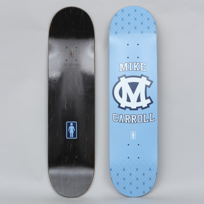 Girl 7.875 Mike Carroll Bruised Heel Skateboard Deck Blue