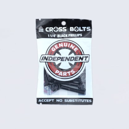 """Independent 1 1/4"""" Phillips Bolts Black"""