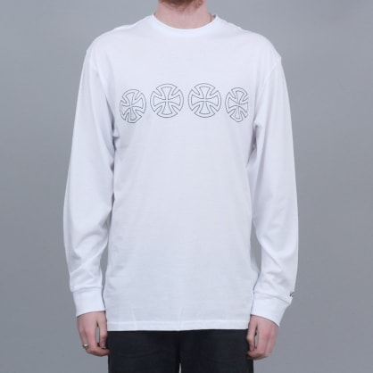 Vans X Independent Iron Cross Longsleeve T-Shirt White