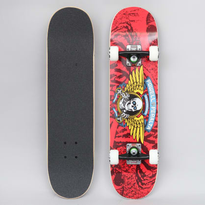 Powell Peralta 7 Winged Ripper 239 Complete Skateboard Red