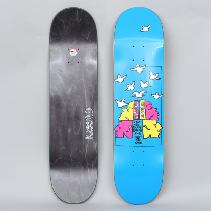 Krooked 8.06 Cromer Qwuatro Full Skateboard Deck Blue