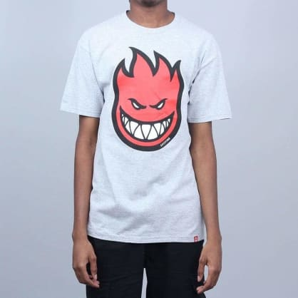 Spitfire Bighead Fill T-Shirt Athletic Heather / Red