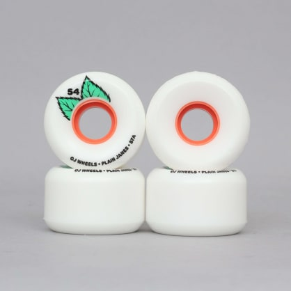 OJ 54mm 87A Plain Jane Keyframe Soft Skateboard Wheels White