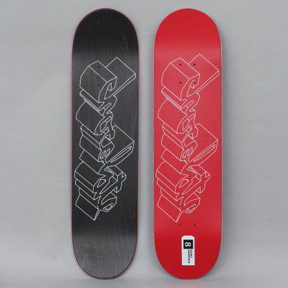 Chocolate 8 Kenny Anderson 3D Chunk Skateboard Deck Red