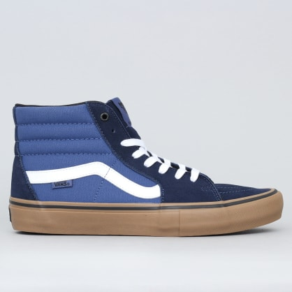 Vans Sk8-Hi Pro Shoes (Rainy Day) Navy / Gum