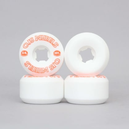 OJ 54mm 101A From Concentrate Hardline Skateboard Wheels White / Orange