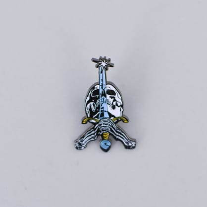 Powell Peralta Skull & Sword Lapel Pin Badge