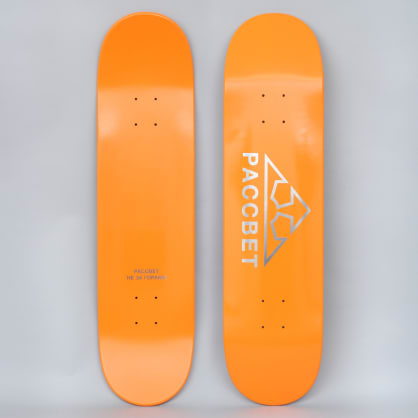 Paccbet 8 Paccbet Logo Skateboard Deck Orange