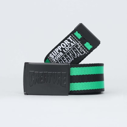 Creature Logo Stamp Web Belt Black / Green