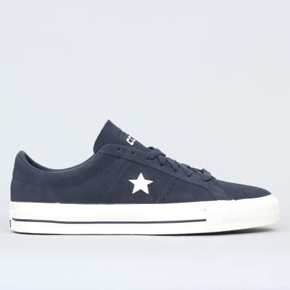 Converse One Star Pro OX Shoes Dark Obsidian / Egret / Egret