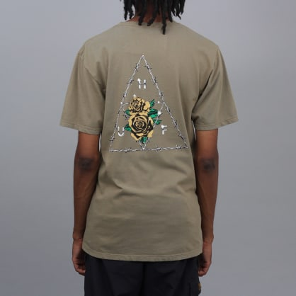 HUF Dystopia Triple Triangle T-Shirt Dried Herb