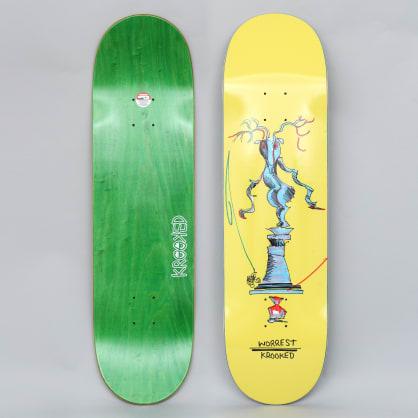 Krooked 8.5 Worrest Buck Pro Skateboard Deck Yellow