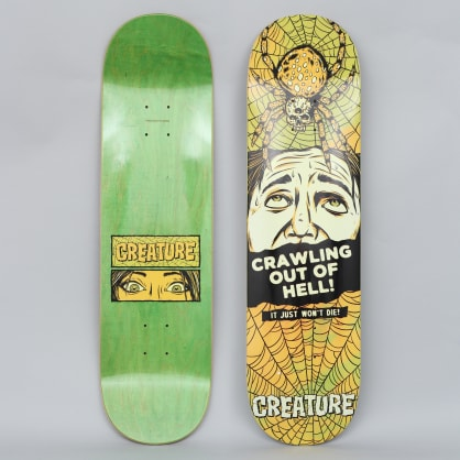 Creature 8.375 Horror Feature Medium Skateboard Deck Black / Yellow