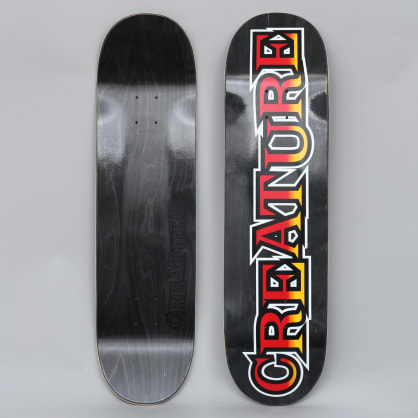 Creature 8.375 Long Logo Large HRM Skateboard Deck Black