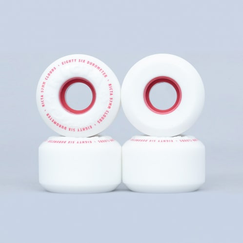 Ricta 57mm 86A Clouds Wheels White / Red