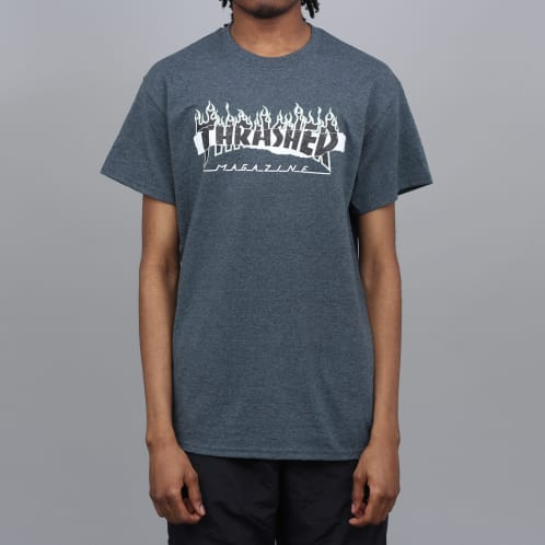 Thrasher Ripped T-Shirt Dark Heather