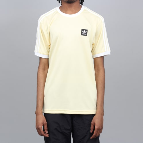 adidas Club Jersey T-Shirt Easy Yellow / White