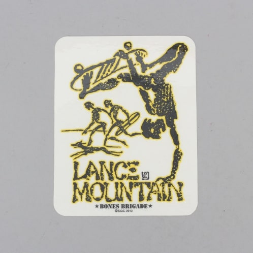 Powell Peralta Mountain Bones Brigade Sticker Yellow