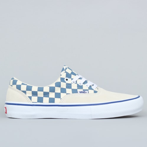 Vans Era Pro Shoes (Checker) Classic White / Blue