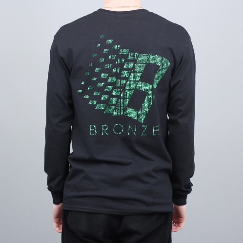 Bronze B Logo Longsleeve T-Shirt Black / Binary Code