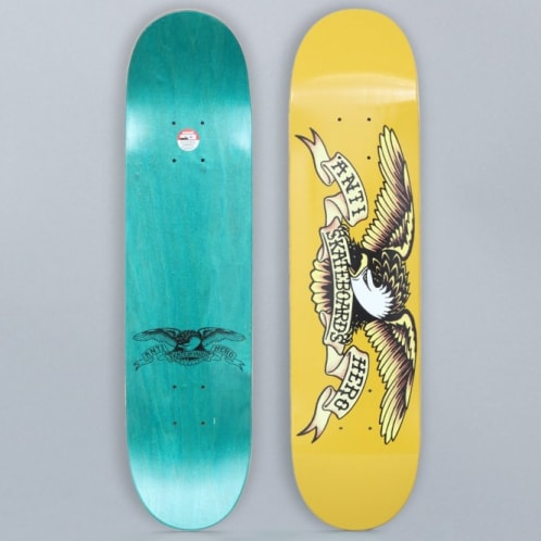Anti Hero 7.3 Classic Eagle Mini Skateboard Deck Yellow
