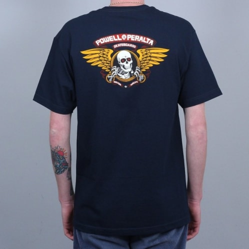 Powell Winged Ripper T-Shirt Navy