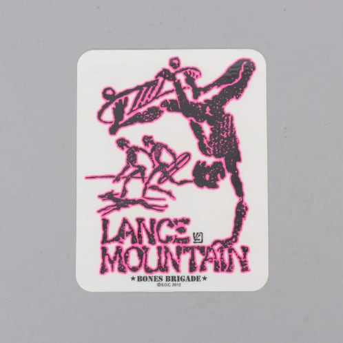 Powell Peralta Mountain Bones Brigade Sticker Pink