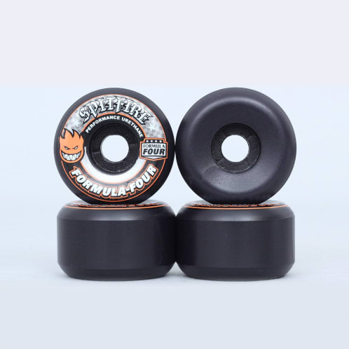 Spitfire 52mm 99DU Formula Four Conical Full Wheels Black