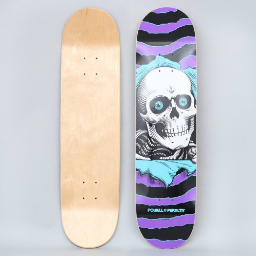 Powell Peralta 8 One Off Ripper PP Skateboard Deck Purple / Turquoise