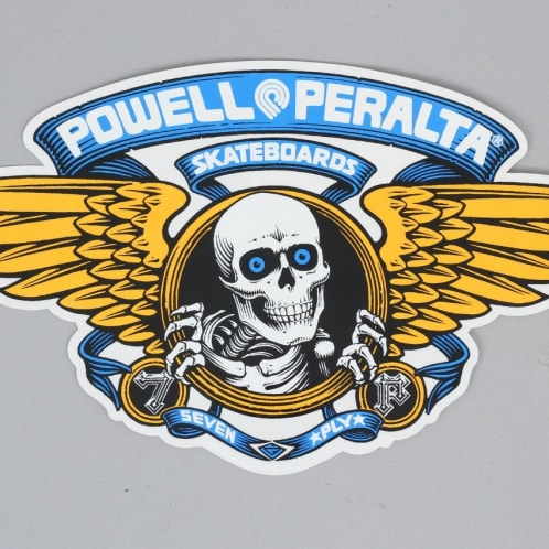 Powell Peralta Winged Ripper Ramp Sticker Blue