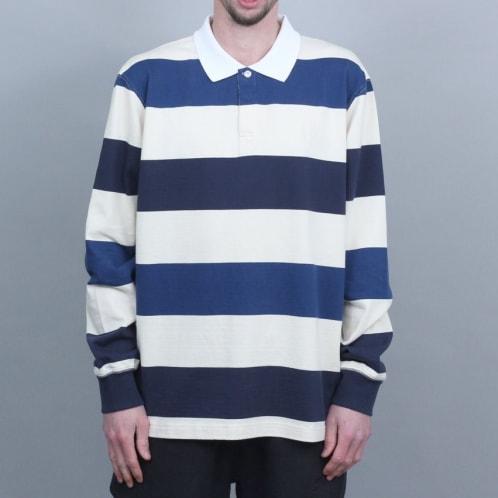 Polar 93 Stripe Rugby Longsleeve Shirt Dark Navy / Navy / Cream